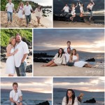 Family Portrait at Sunset in Wailea