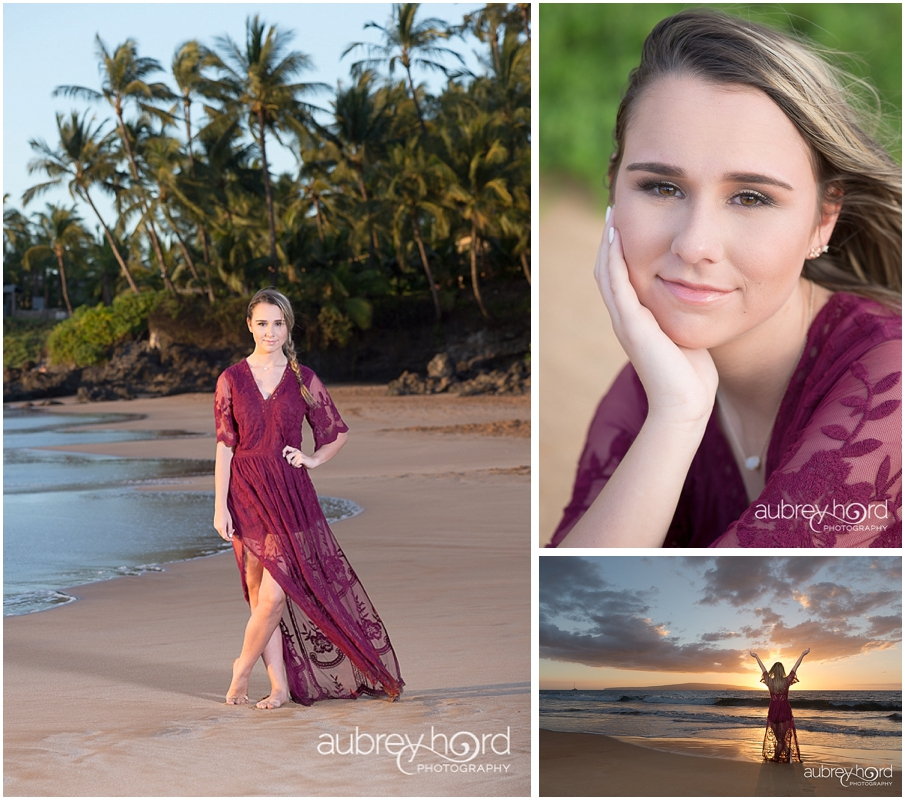 Maui Senior Portraits in Hawaii by Photographer Aubrey Hord
