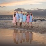 Pastel Maui Family Portrait in Wailea by portrait photographer Aubrey Hord a PPA Certified Professional Photographer based in Hawaii