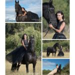 A Girl and Her Friesian Horse Equine Portrait by Aubrey Hord Photography