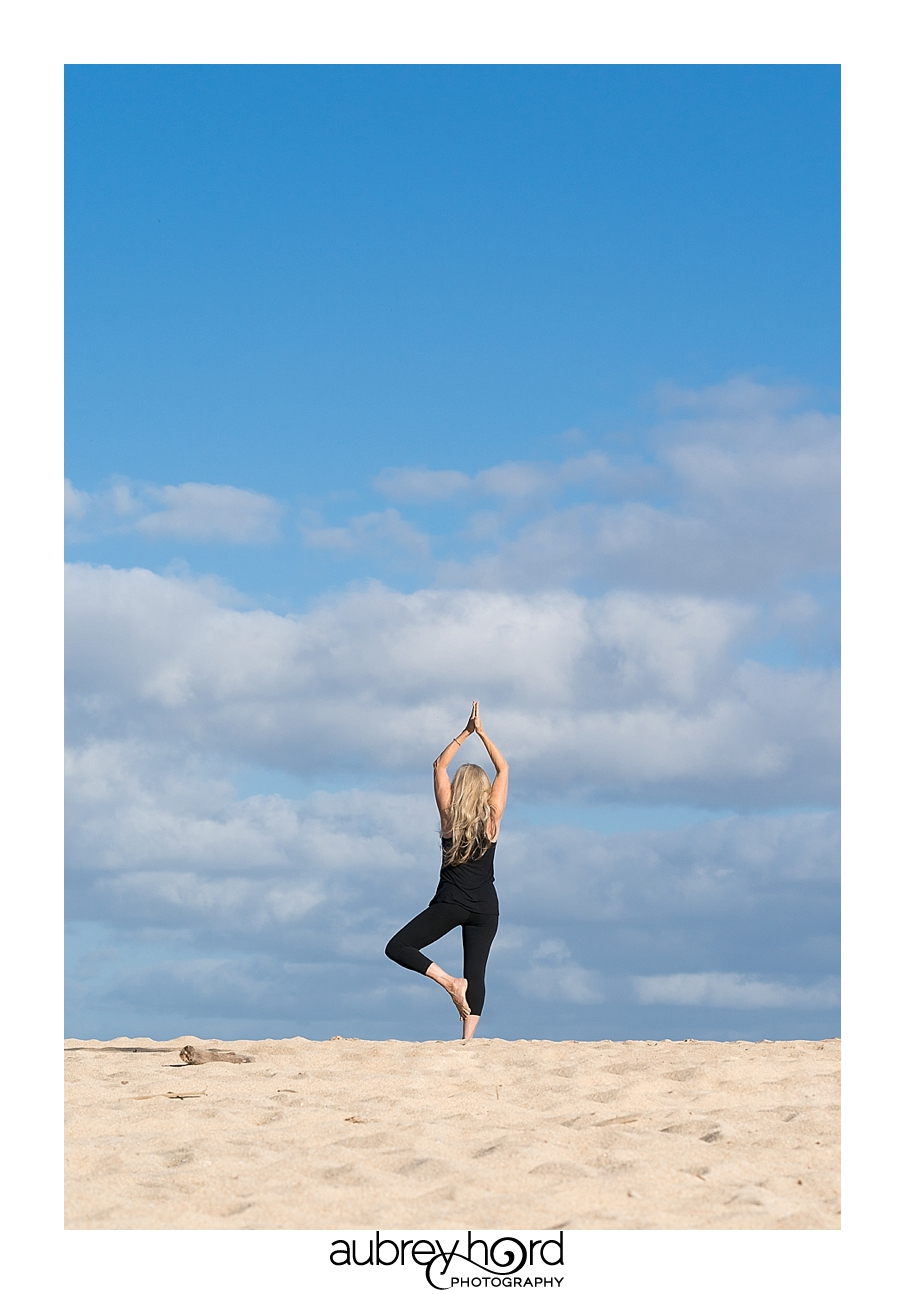 Yoga On The North Shore by Maui Photographer Aubrey Hord
